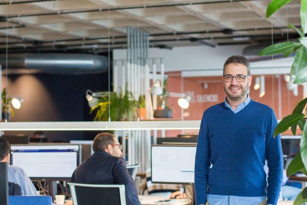 Aday Hernández en las oficinas de Satocan