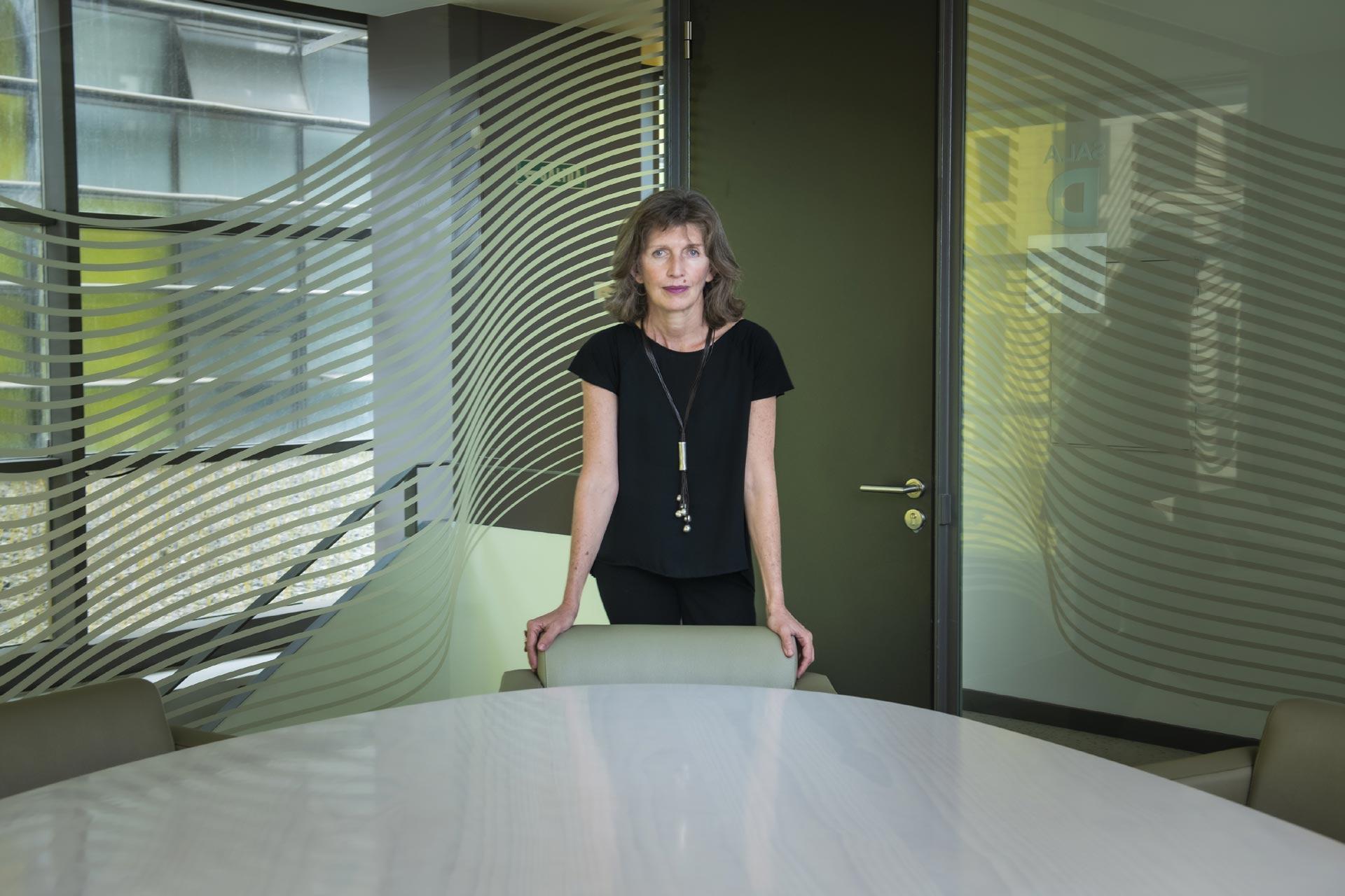 Alicia Gómez en las oficinas de Hecansa