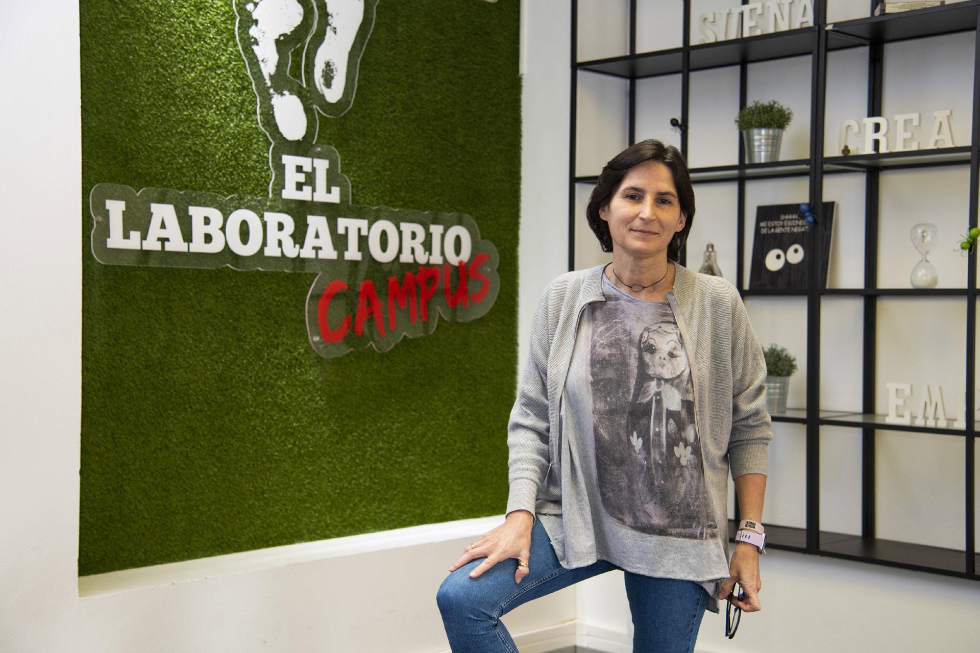 Mercedes Sanagustín en el Laboratorio Campus de ULPGC