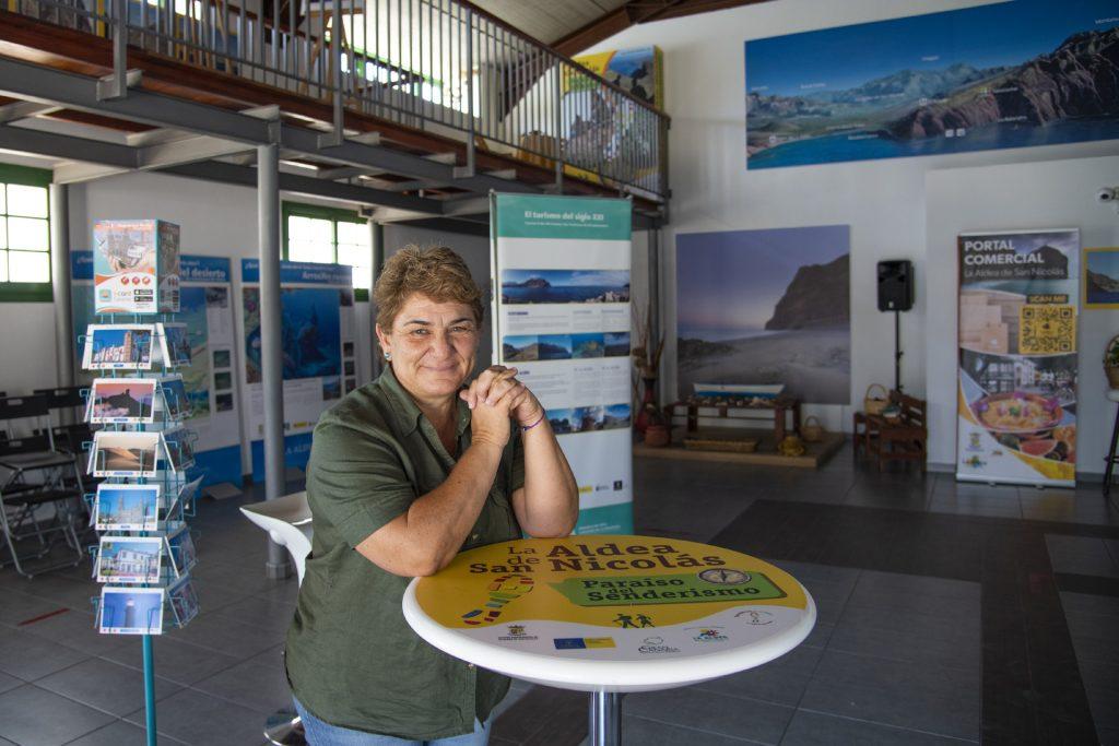 Rocío Araña en el Centro de Visitantes de La Aldea